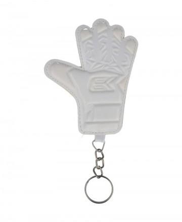 Goalkeeper glove keychain Ek Pro white