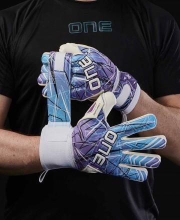 Goalkeeper gloves for kids blue