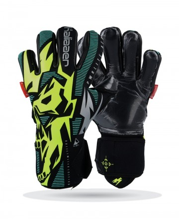 Gloves Kaliaaer Aer Neg 2 Negative Yellow - Green