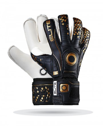 Elite Black Real Goalkeeper Gloves