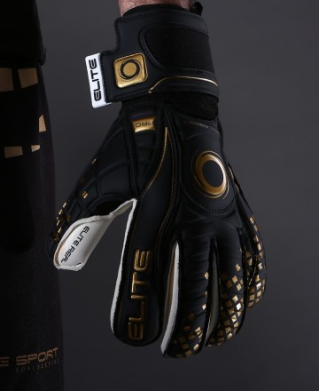 Elite Sport Black Real Soccer Goalkeeper Gloves