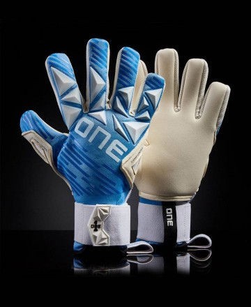 One Gloves Azure soccer goalkeeper gloves