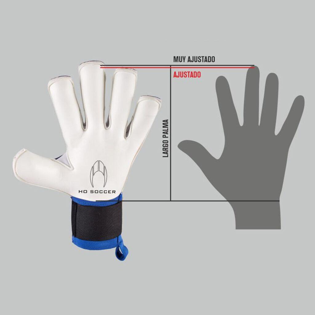 como medir tu mano para saber la talla de guantes de portero